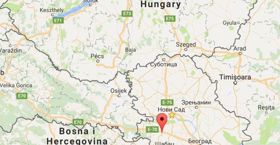 Sremska Mitrovica mapa