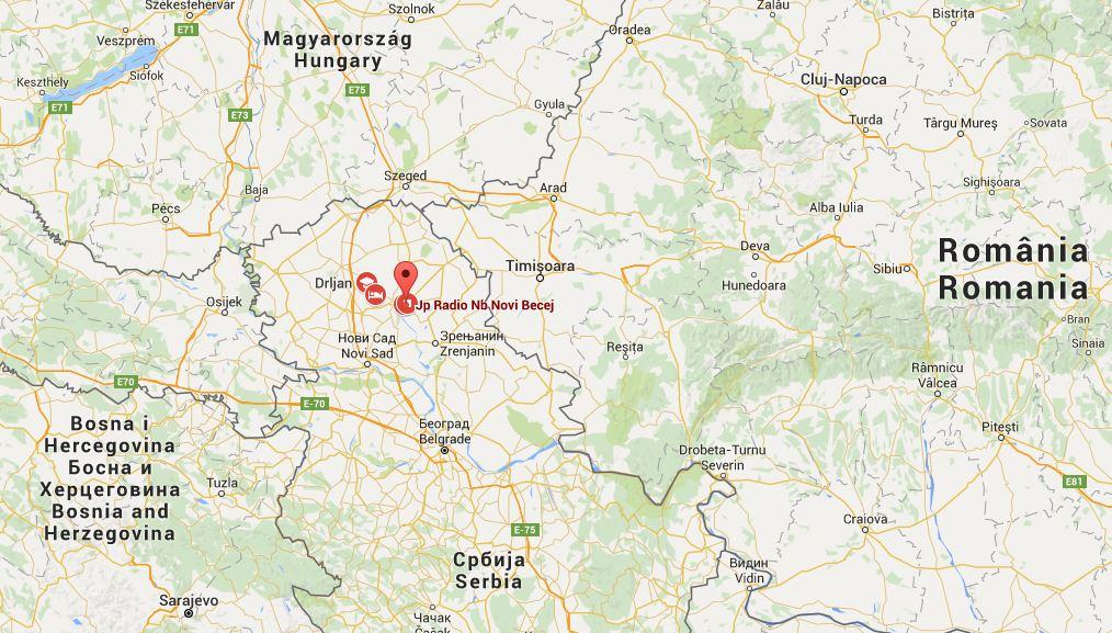 Novi Bečej mapa
