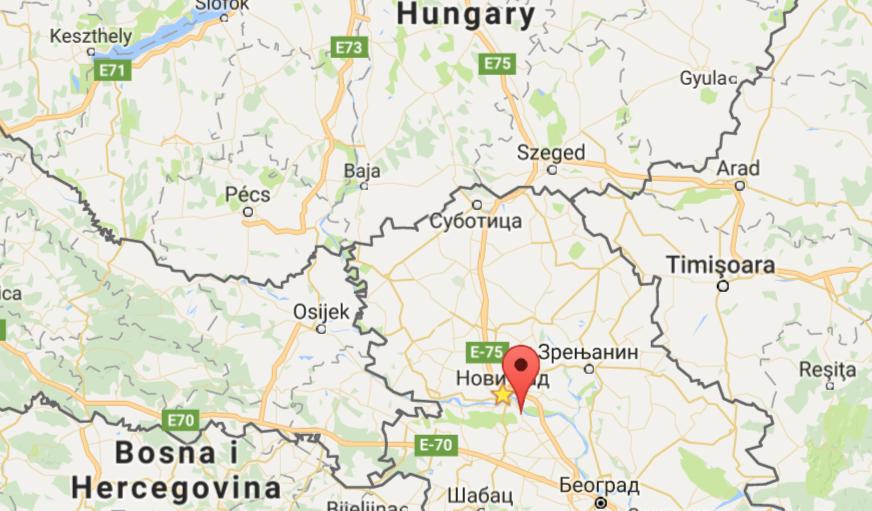 Sremski Karlovci mapa